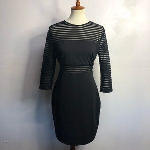 Lulu's long sleeve black sheer dress size L